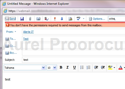 How to Send As and Send on Behalf Of in OWA 2010 | Tech Blog